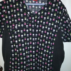 Womens Dickies multi-color scrub top. Size XL